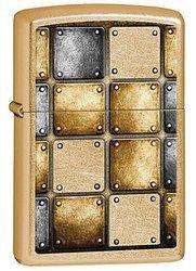 Зажигалка ZIPPO Classic, латунь с покрытием Gold Dust, золотистый, матовая, 36х12x56 ммЗажигалки Zippo<br>Зажигалка ZIPPO Classic, латунь с покрытием Gold Dust, золотой, матовая, 36х12x56 мм<br>