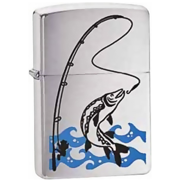 Зажигалка ZIPPO Fisherman, латунь с покрытием Brushed Chrome, серебристый, матовая, 36х12x56 мм 4 8 days arrival iphone mobile phone battery cable tester accessories apple data cable test panels test sockets test fixture