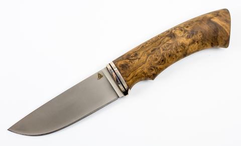 Нож Кроха-4, Vanadis 10, мельхиор, кап клена - Nozhikov.ru