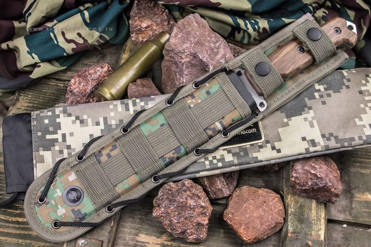 Фото 5 - Нож выживания Survivalist X AUS-8 SW в орехе, Кизляр