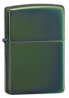 Зажигалка ZIPPO Classic, латунь с покрытием Chameleon™, серебристый, глянцевая, 36х12x56 ммЗажигалки Zippo<br>Зажигалка ZIPPO Chameleon, латунь с никеле-хромовым покрытием, серебряный, глянцевая, 36х56х12 мм<br>