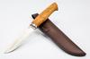 Нож Нырок, M390, мельхиор, карельская береза - Nozhikov.ru