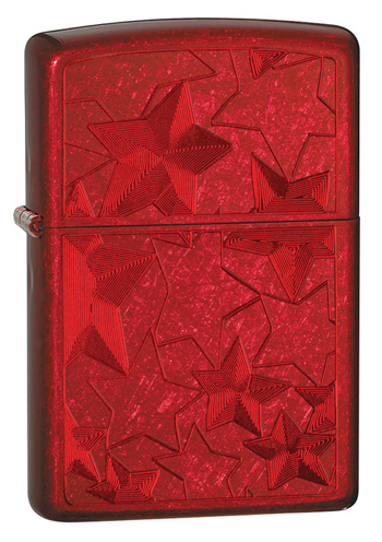��������� ZIPPO Stars Candy Apply Red, ������ � ������-����.������, �������, �����, 36�56�12 ��