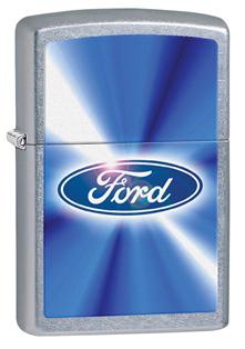 Зажигалка ZIPPO Ford Street Chrome, латунь,ник-хром.покрыт.,серебр.,матов.,36х12х56ммЗажигалки Zippo<br>Зажигалка ZIPPO Ford Street Chrome, латунь с никеле-хромовым покрытием, серебряный, матовая, 36х12х56 мм<br>