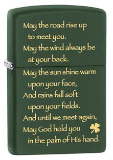 Зажигалка ZIPPO Green Matte, латунь с порошковым покрытием, темно-зеленый, матова, 36х12х56 ммЗажигалки Zippo<br>Зажигалка ZIPPO Green Matte, латунь с порошковым покрытием, темно-зеленый, матова, 36х12х56 мм<br>