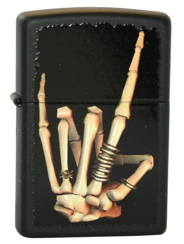 Зажигалка ZIPPO Heavy Metal Black Matte, латунь с порошковым покрытием, черный, матовая, 36х12х56 мм
