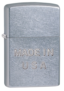 Зажигалка ZIPPO Made in USA Street Chrome, латунь с никеле-хром. покрыт.,серебр.,матовая, 36х12х56 мЗажигалки Zippo<br>Зажигалка ZIPPO Made in USA Street Chrome, латунь с никеле-хромовым покрытием, серебряный, матовая, 36х12х56 мм<br>
