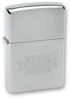 Зажигалка ZIPPO Zippo Brushed Chrome, латунь с никеле-хром.покрыт., серебр., матов., 36х56х12 мм керосиновая зажигалка zippo