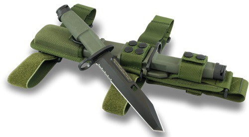 Фото 2 - Нож с фиксированным клинком Extrema Ratio Fulcrum Mil-Spec Bayonet Green, сталь Bhler N690, рукоять пластик