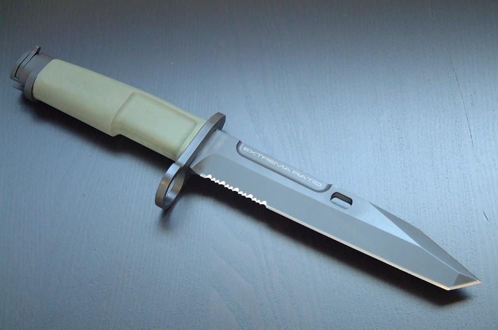 Фото 3 - Нож с фиксированным клинком Extrema Ratio Fulcrum Mil-Spec Bayonet Green, сталь Bhler N690, рукоять пластик