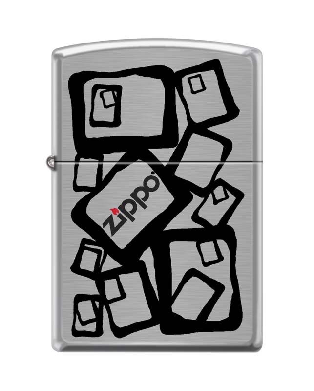 Зажигалка ZIPPO 200 Zippo 2, латунь/сталь с покрытием Brushed Chrome, серебристая, 36x12x56 мм a suit of chic fake pearl rhinestone hollow out flower necklace and earrings for women