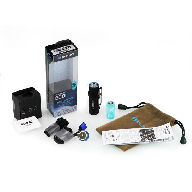 Фонарь Olight S1R Baton NW (комплект) фонарь светодиодный налобный olight h1r nova nw нейтральный с акб и usb зу