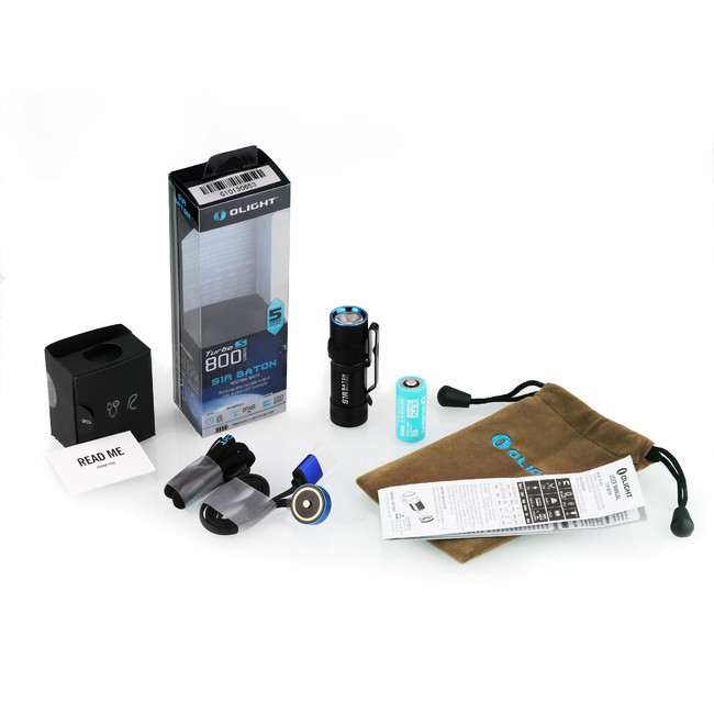 Фонарь Olight S1R Baton NW (комплект) olight fm21 blue filter for m21x l2 warrior m22 warrior s80 baton r40 seeker