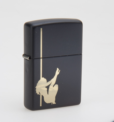 Зажигалка ZIPPO Classic Девушка с покрытием Black Matte, латунь/сталь, черная, матовая, 36x12x56 мм free shipping free shipping pull out faucet polished chrome bathroom faucet basin sink mixer tap torneira banheiro bf031