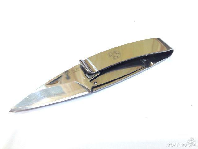 Нож-зажим для денег Mcusta, стальнойРаскладные ножи<br>Нож-клипса для денег + нож скрытого ношения<br>