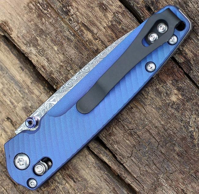 Фото 2 - Складной нож Benchmade 485-171 VALET Gold Class AXIS®, дамасская сталь, рукоять титан