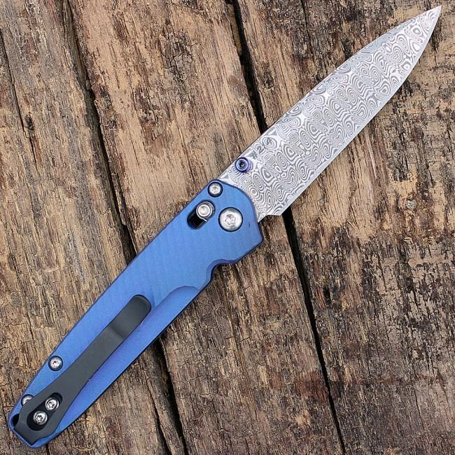Фото 3 - Складной нож Benchmade 485-171 VALET Gold Class AXIS®, дамасская сталь, рукоять титан