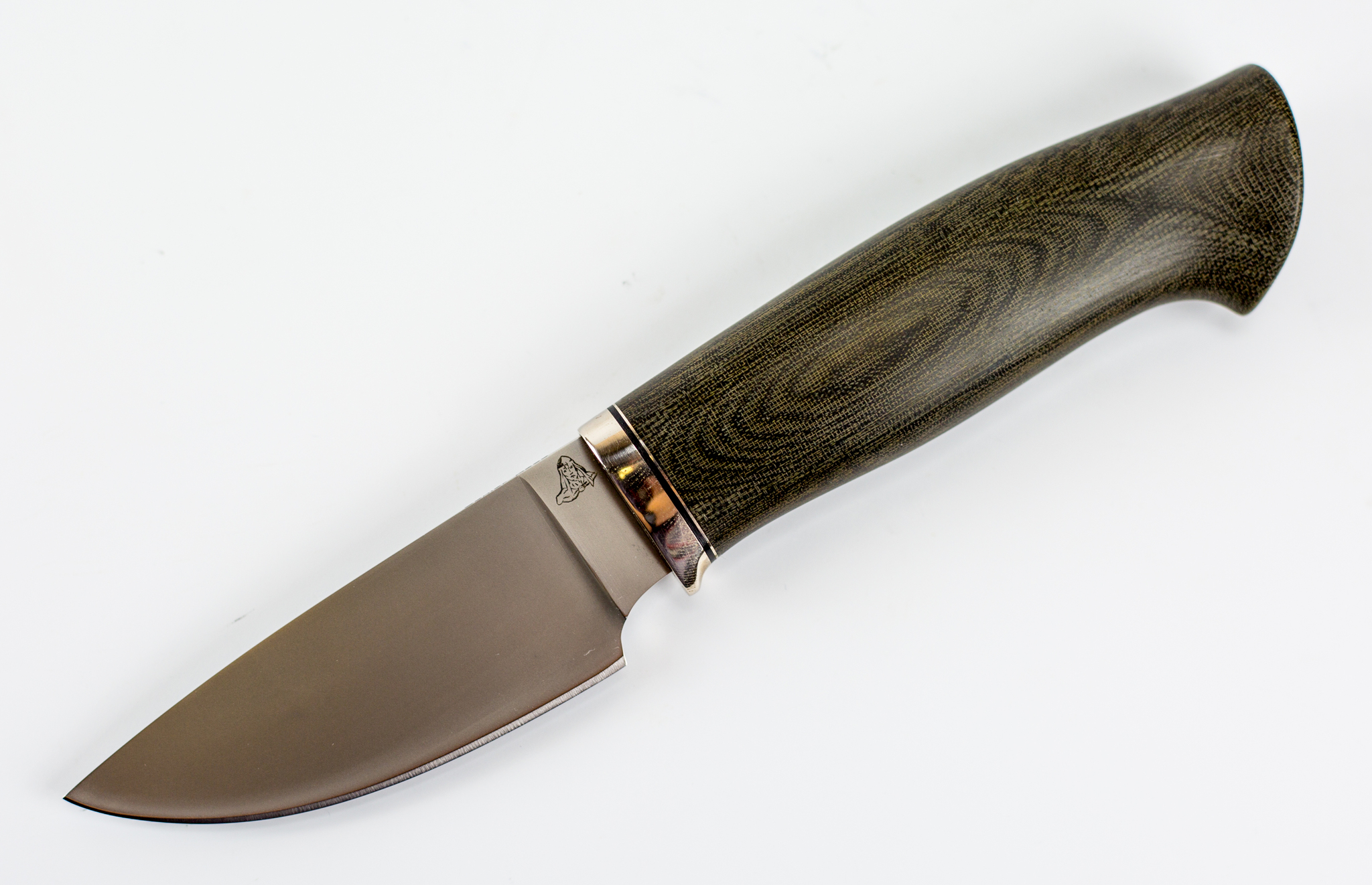 Нож Вороненок, К390, микарта, мельхиорНожи Ворсма<br>Нож Кроха<br>