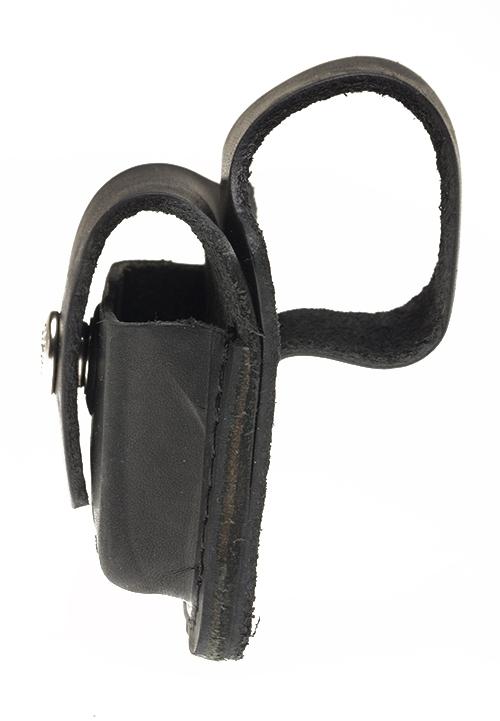 Чехол ZIPPO для широкой зажигалки, с отверстием для большого пальца, натуральная кожа, чёрный