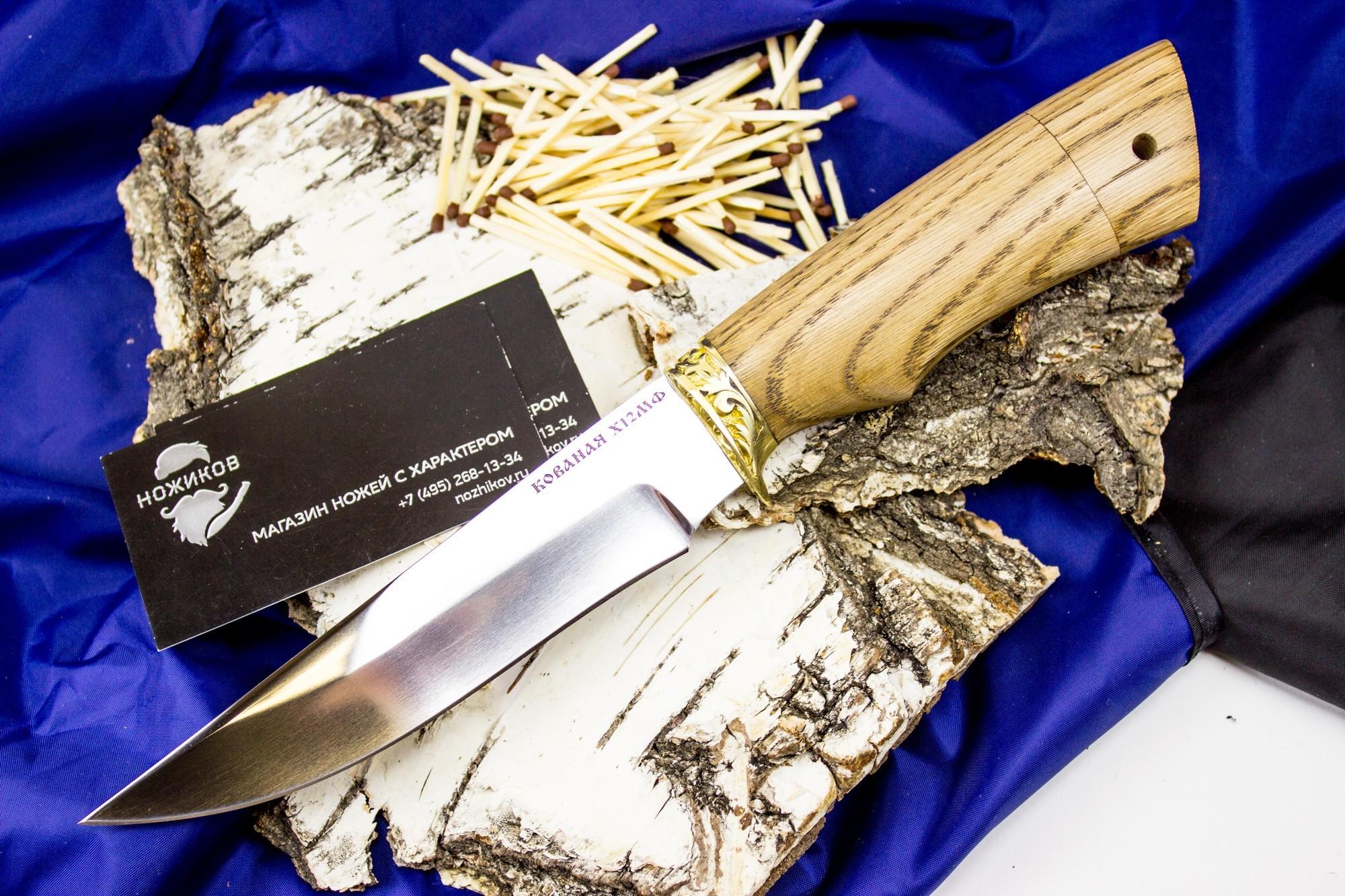 Нож Белка, сталь Х12МФ, мельхиор от Кузница Коваль
