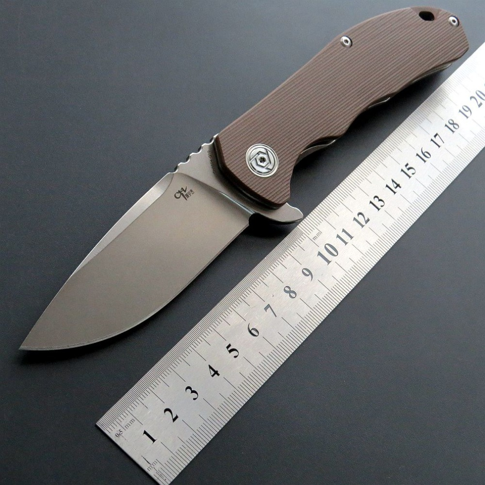 Фото 9 - Складной нож CH3504 сталь D2, цвет коричневый от ch outdoor knife