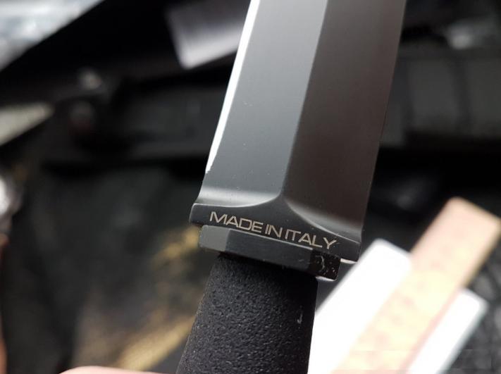 Нож с фиксированным клинком E.R. Commando Black