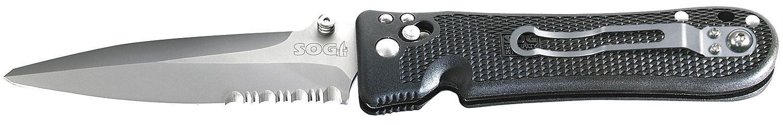 Фото 2 - Складной нож Pentagon Elite I - SOG PE14 10.2 см, сталь VG-10, рукоять пластик GRN