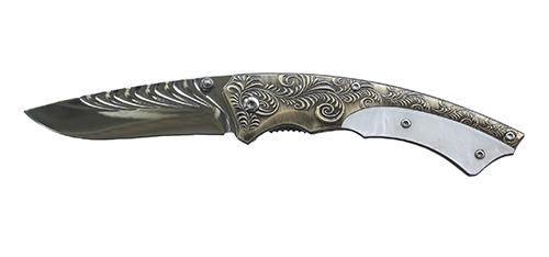 Нож складной Stinger, 75 мм (темно-серый), рукоять: сталь/пластик (бело-серый), с клипом, коробка картон23 февраля<br>Нож складной Stinger, 75 мм (темно-серый), рукоять: сталь/пластик (бело-серый), с клипом, коробка картон<br>
