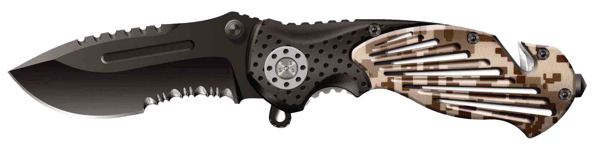 Нож складной Stinger, 84 мм (черный), рукоять: сталь/алюминий (камуфляж+черный), коробка картон23 февраля<br>Нож складной Stinger, 84 мм (черный), рукоять: сталь/алюминий (камуфляж+черный), коробка картон<br>