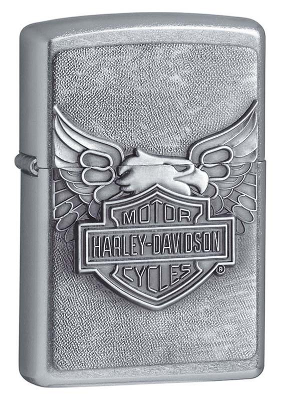 Зажигалка ZIPPO Harley-Davidson®, покрытие Street Chrome™ universal highway footpeg footrest for harley 32mm engine guard crash bar chrome kawasaki suzuki bar motorcycle
