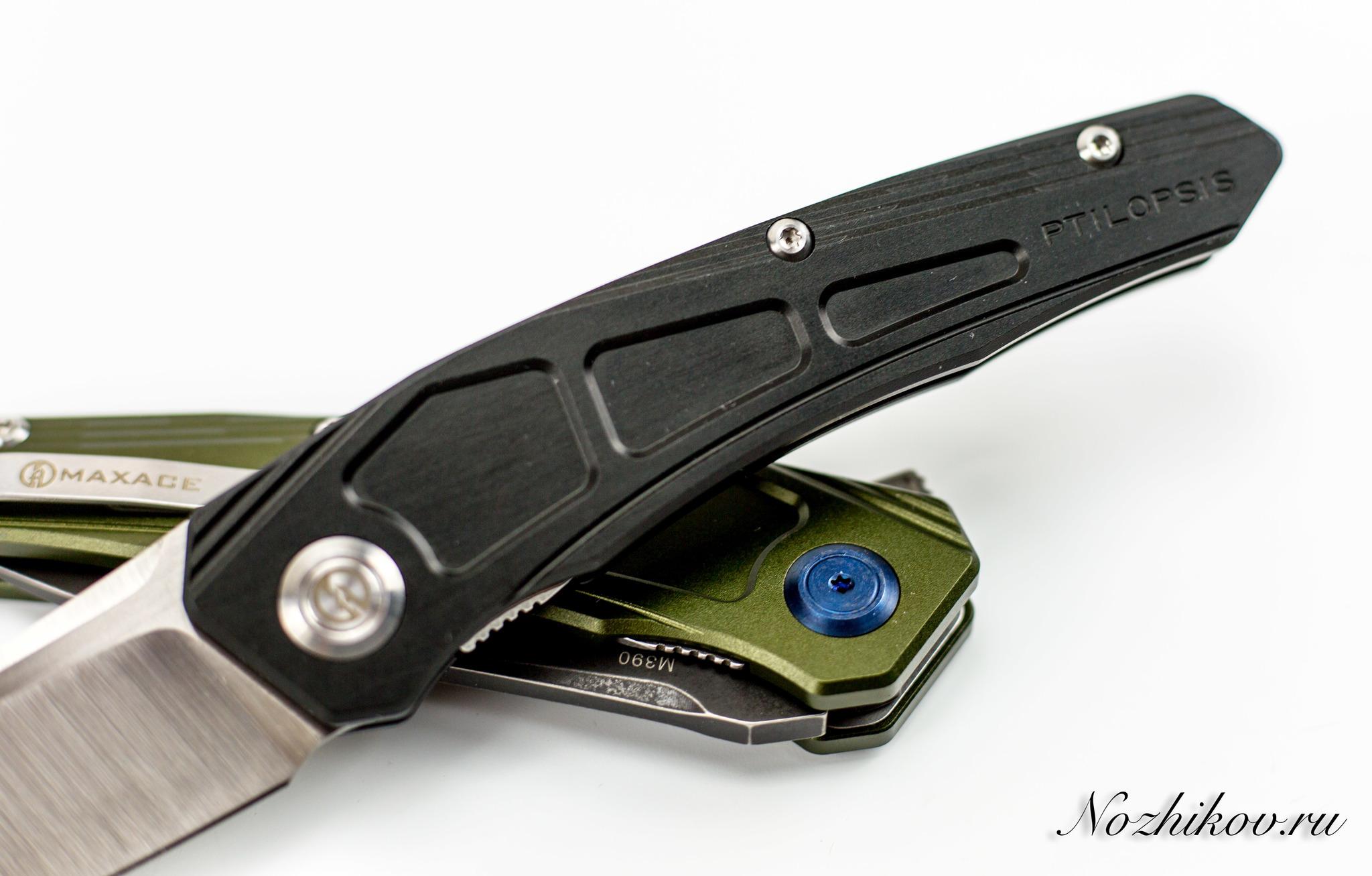 Складной нож Maxace Ptilopsis Black, сталь M390