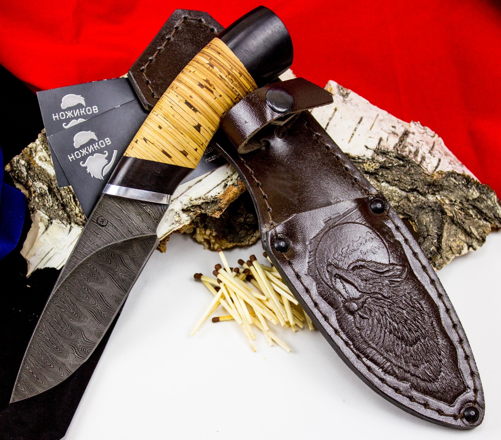 Фото 4 - Нож Разделочный, дамасская сталь от Кузница Семина