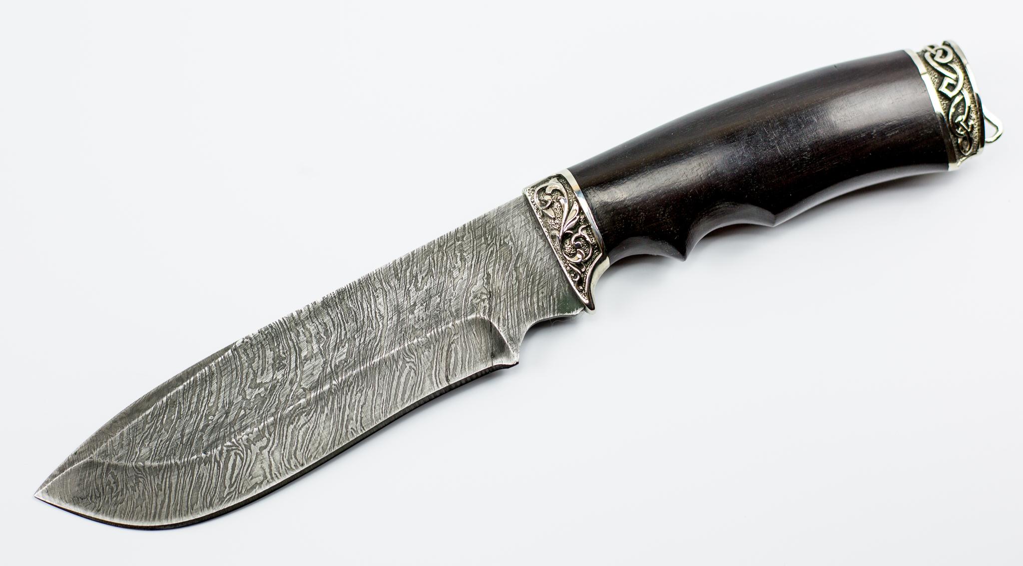 Нож Тигр, дамасская стальНожи Павлово<br>Универсальный туристический нож.<br>