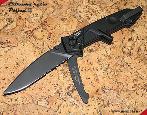 Фото 2 - Многофункциональный складной нож с выкидным стропорезом Extrema Ratio Police II, сталь Bhler N690, рукоять алюминий
