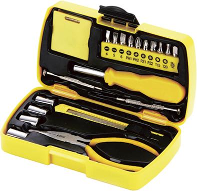 Набор инструментов Stinger, 20 инструментов, в пластиковом кейсе, 160х40x90 ммПодарочные наборы ножей<br>Набор инструментов Stinger, 20 инструментов, в пластиковом кейсе, 160х40x90 мм<br>