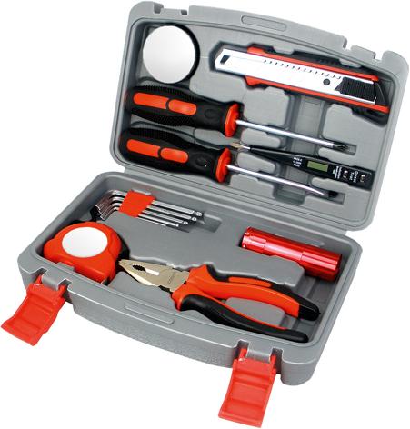 Набор инструментов Stinger, 13 инструментов, в пластиковом кейсе, 245х55x160 ммПодарочные наборы ножей<br>Набор инструментов Stinger, 13 инструментов, в пластиковом кейсе, 245х55x160 мм<br>