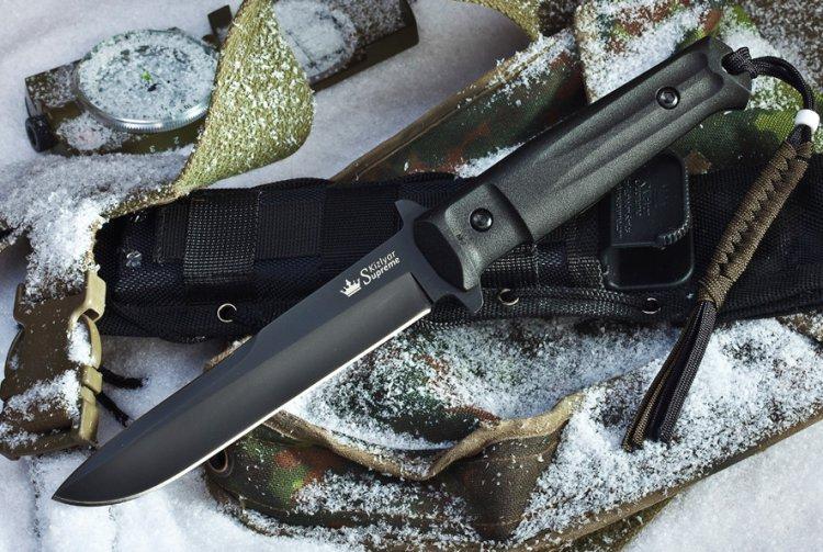Тактический нож Trident AUS-8 Black Titanium нож trident d2 black titanium