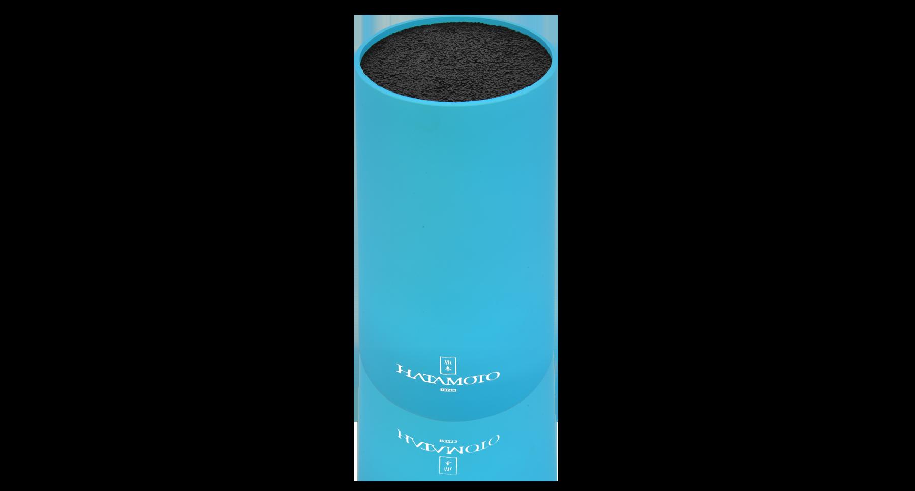 Подставка для ножей круглая HATAMOTO COLOR, голубая, пластик, 110*225ммTojiro<br>Подставка для ножей круглая HATAMOTO COLOR, голубая, пластик, 110*225мм<br>