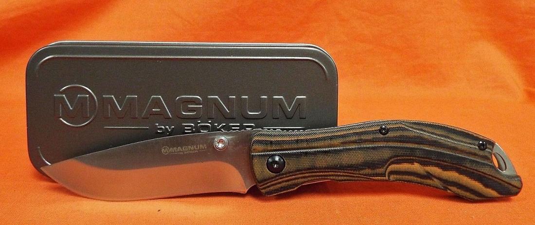 Фото 4 - Нож складной Magnum Dark Earth - Boker 01SC656, сталь 440A Satin Plain, рукоять стеклотекстолит G10
