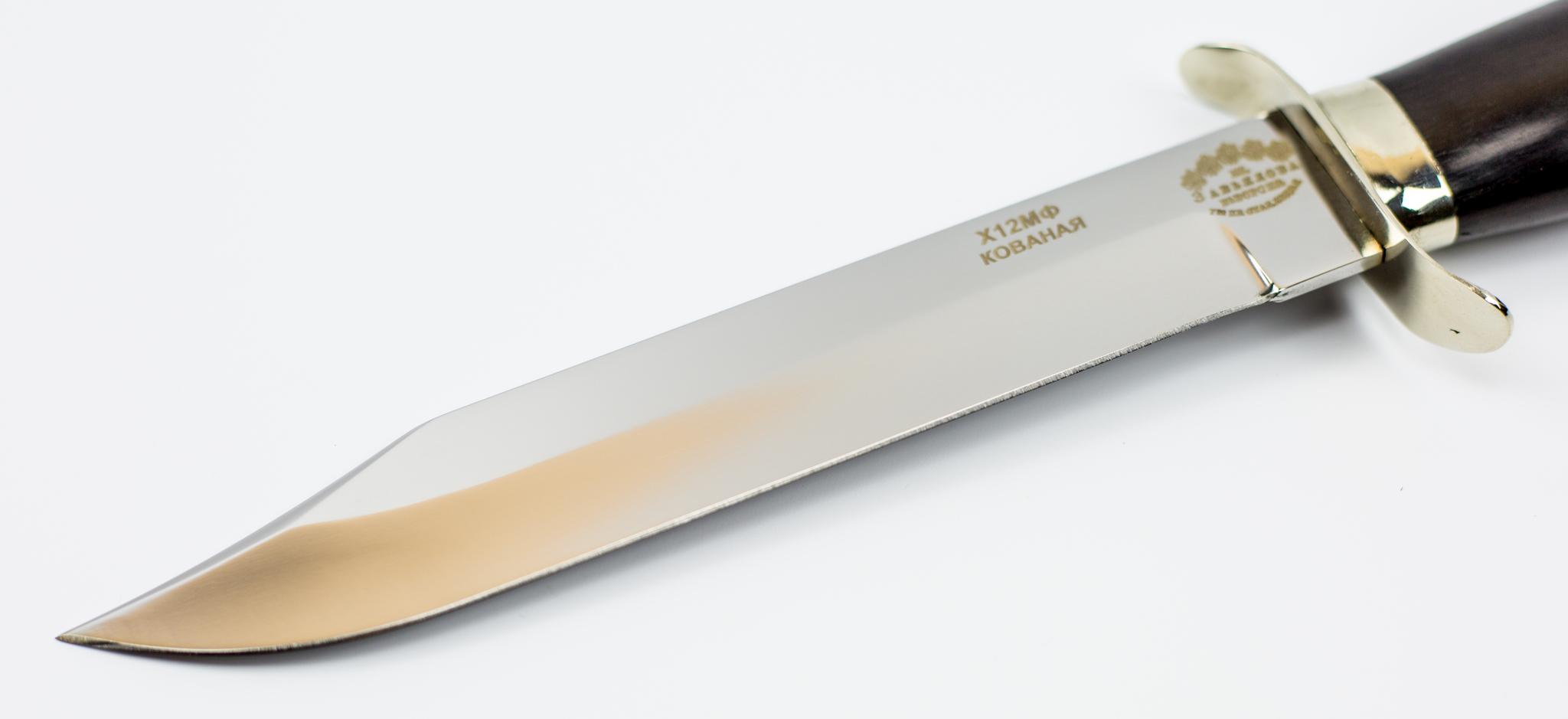 """Нож разведчика, Х12МФ, черный граб от Магазин ножей """"Ножиков"""""""