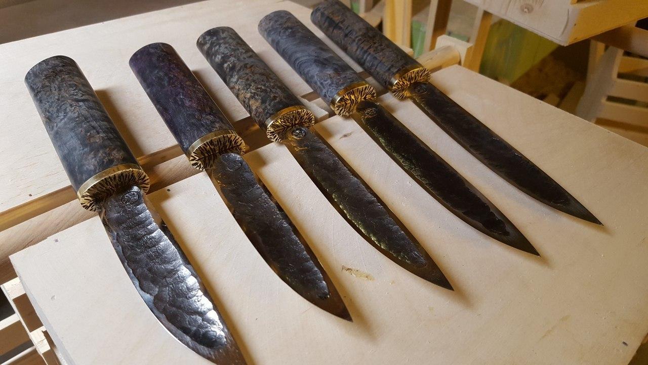 Авторский якутский нож из стали 9ХС , большой