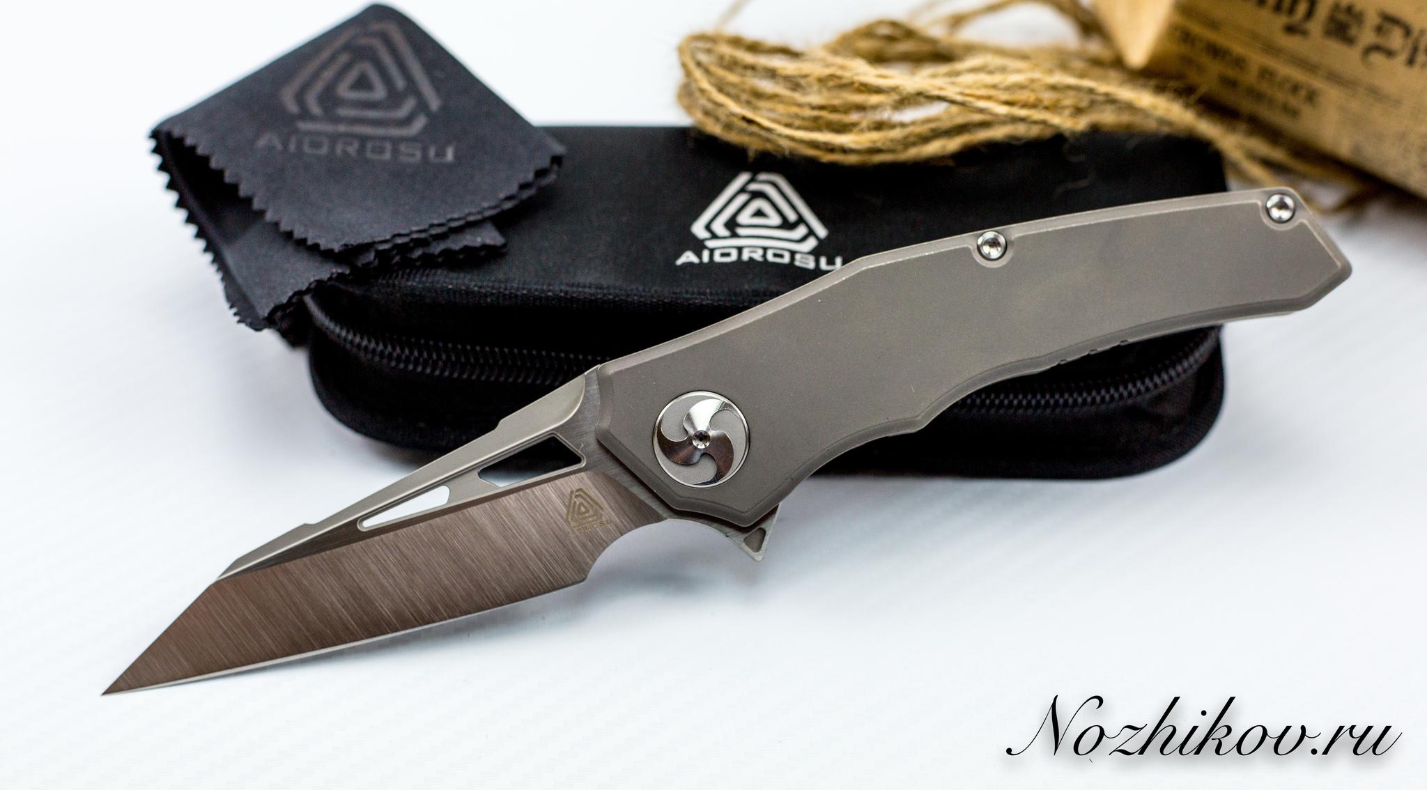 Складной нож AIOROSU Серый , сталь M390Раскладные ножи<br><br>