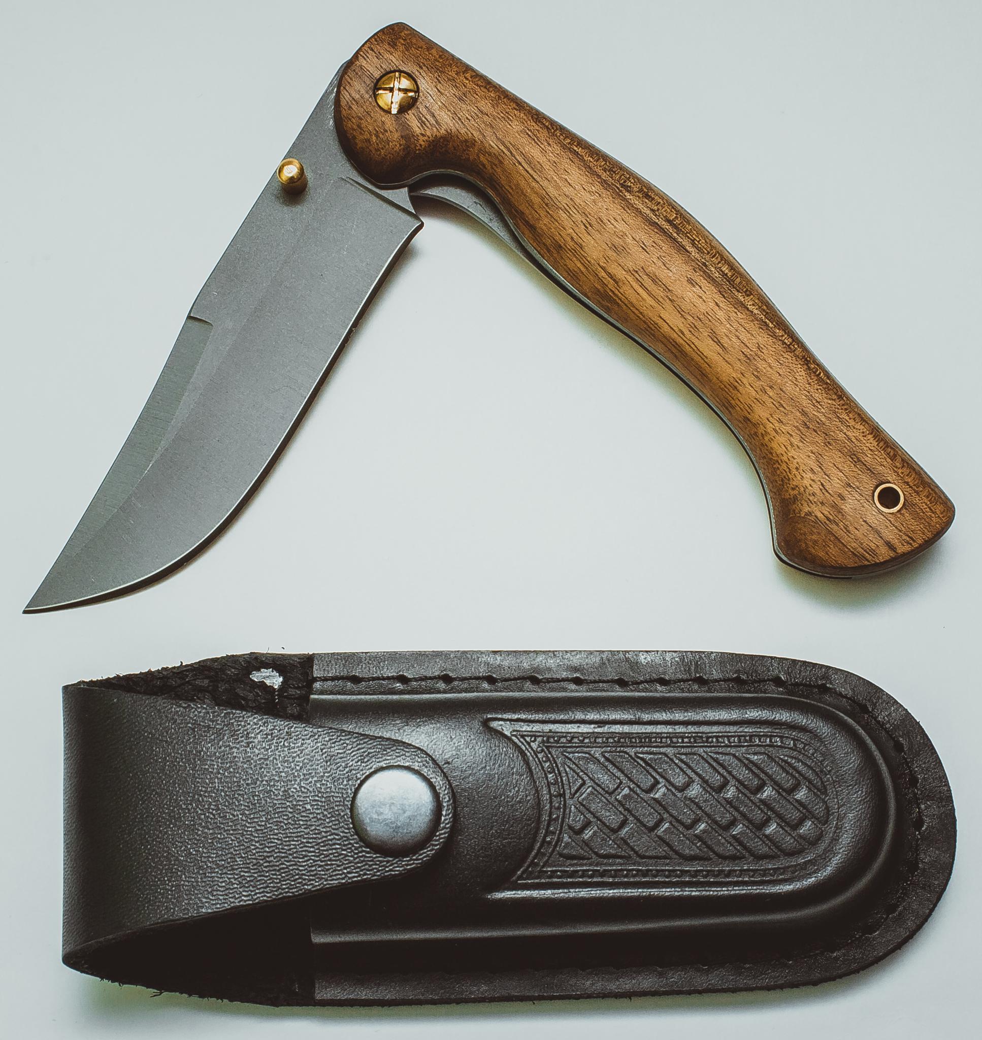 Складной нож Азиат, сталь 95х18, орех