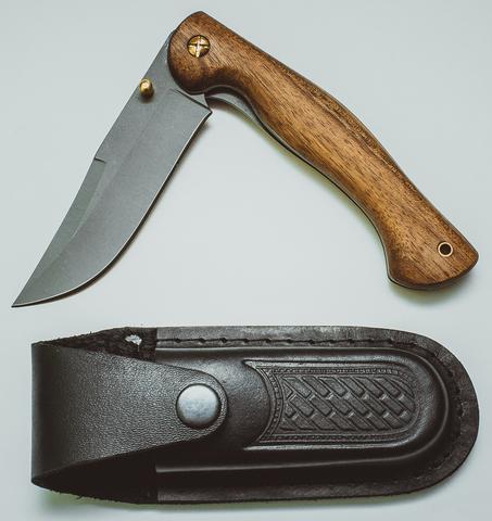 Складной нож Азиат, сталь 95х18, орех - Nozhikov.ru