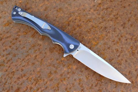 Складной нож Лис, синий - Nozhikov.ru