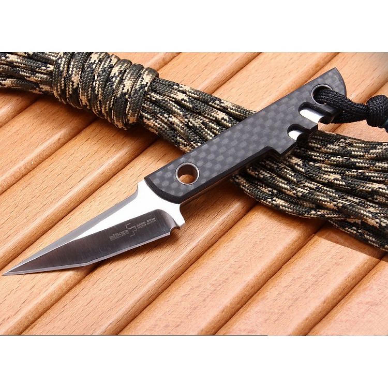Нож с фиксированным клинком Boker Plus Mini Slik Decade Edition, Carbon Fiber
