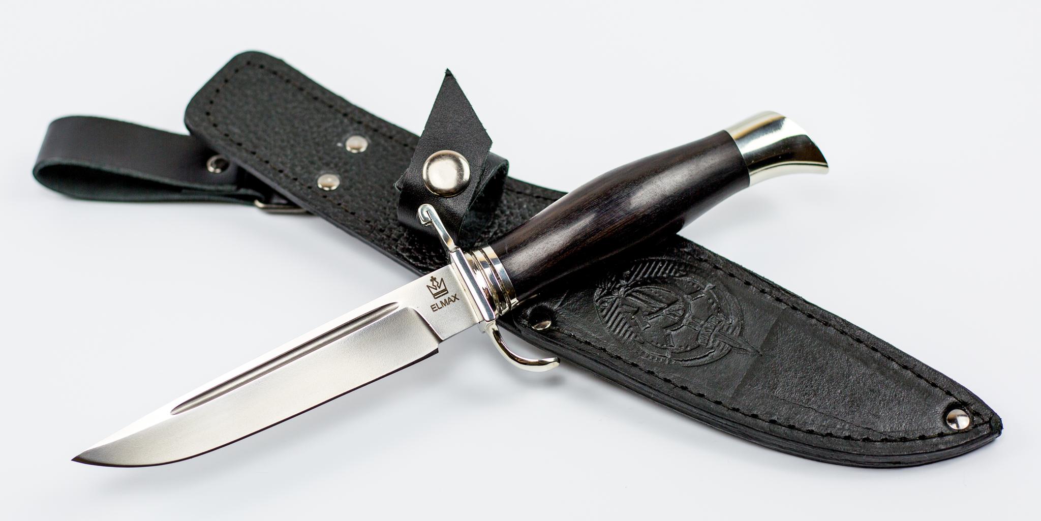 Фото 4 - Нож Финка НКВД, сталь ELMAX, граб, мельхиор от Мастерская Князева