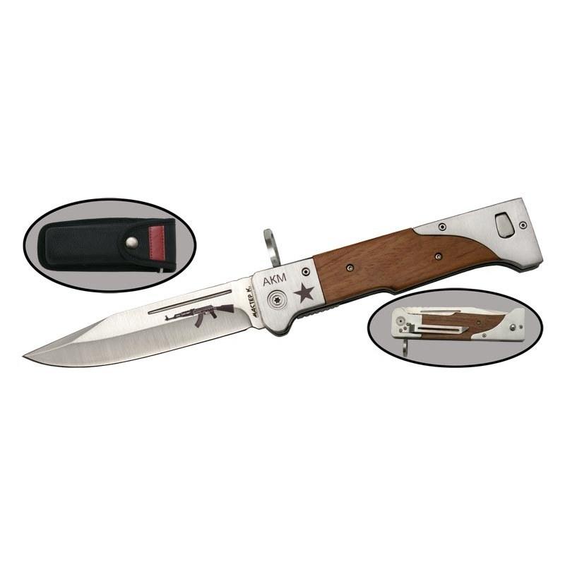 Складной нож M9549-1Раскладные ножи<br>Уникальное творениеот бренда Мастер-К, которое понравится каждому мужчине!<br>