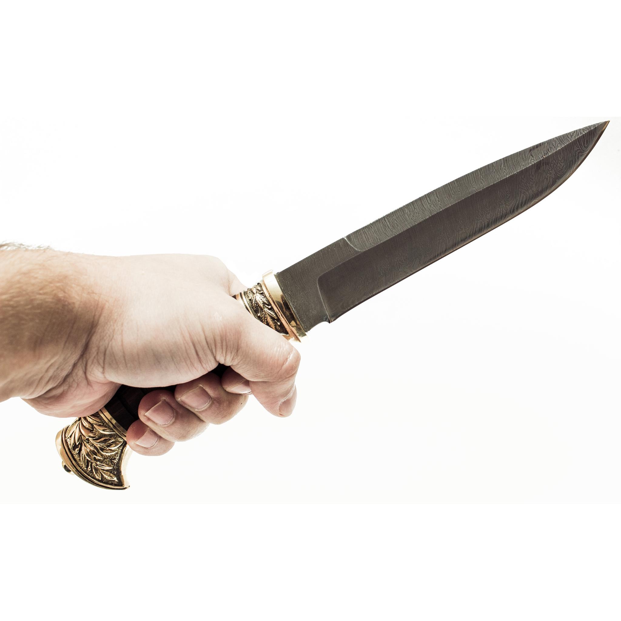 Фото 4 - Нож Витязь, дамаск от Фабрика Баринова