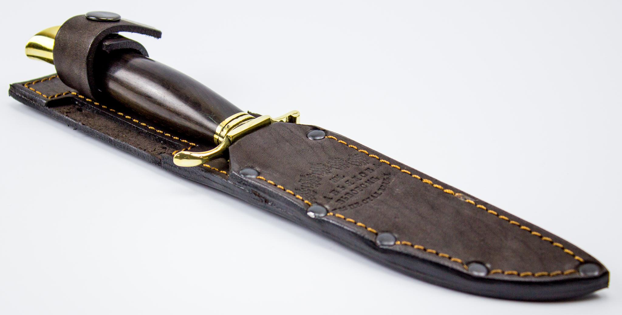Фото 2 - Финка НКВД из дамасской стали, ручка граб от Кузница Завьялова
